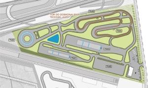 Plan centrum doskonalenia jazdy (mat. NCSMiR)