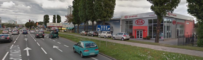 Dawny salon Kia Interbis w Gdańsku, przy ul.Grunwaldzkiej (zdj.wrzesień 2011 Google Earth)