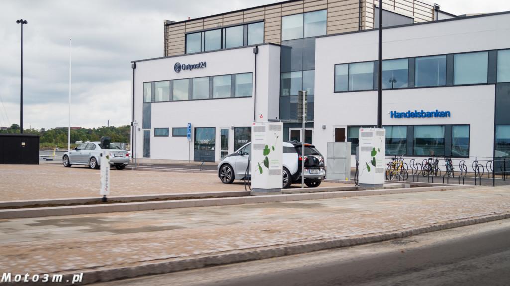 BMW i3 na jednej z wielu stacji ładowania w Karlskronie
