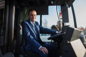 Arkadiusz Guenther - jeden z kierowców nowych autobusów. Fot. Dominik Paszliński/www.gdansk.pl