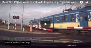 Niebezpieczna sytuacja na przejeździe kolejowym w Rumi