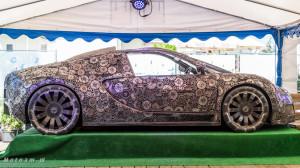 Rzeźba Bugatti Veyron wykonana ze złomu w Gdyni-08485