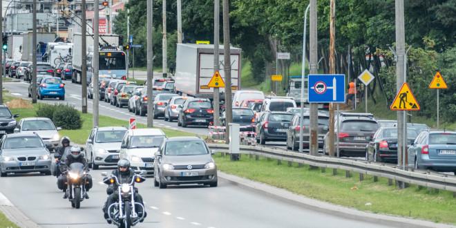 Korek, przebudowa, roboty drogowe, ulica, droga, ruch samochodów - Gdynia-1560275