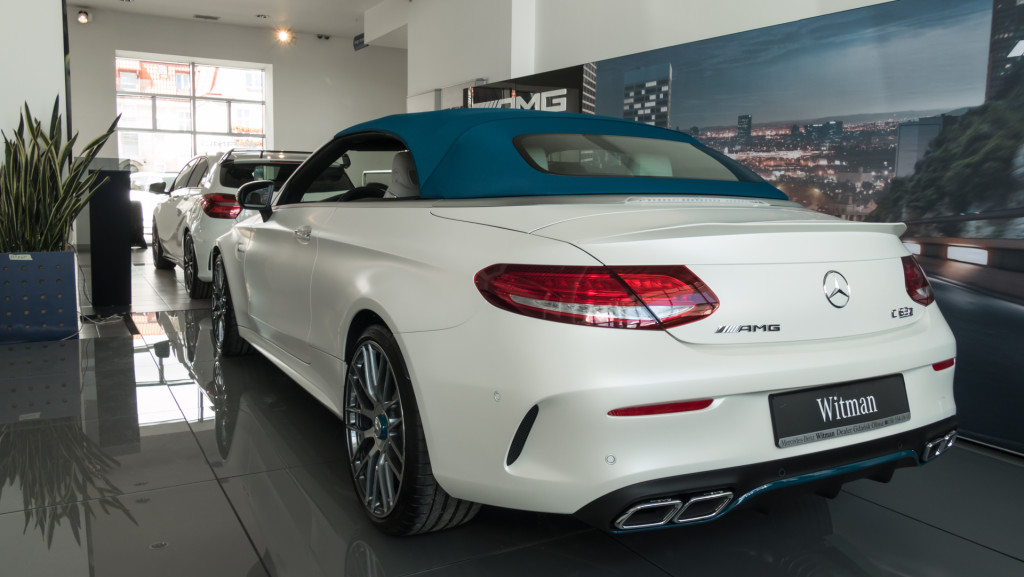 Limitowany Mercedes-AMG C63 Cabrio Ocean Blue Edition w MB Witman-1560652