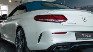 Limitowany Mercedes-AMG C63 Cabrio Ocean Blue Edition w MB Witman-1560657
