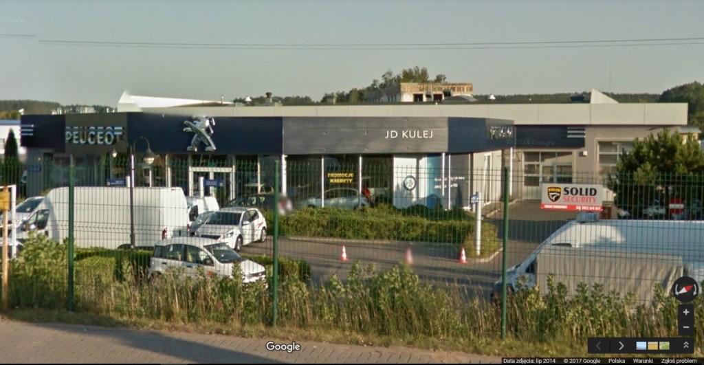 Tak wcześniej wyglądał salon Peugeot JD Kulej (got. Google Earth)