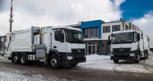 Śmieciarki Mercedes-Benz Antos z MW Wróbel z zabudową Integra Gdynia-04670