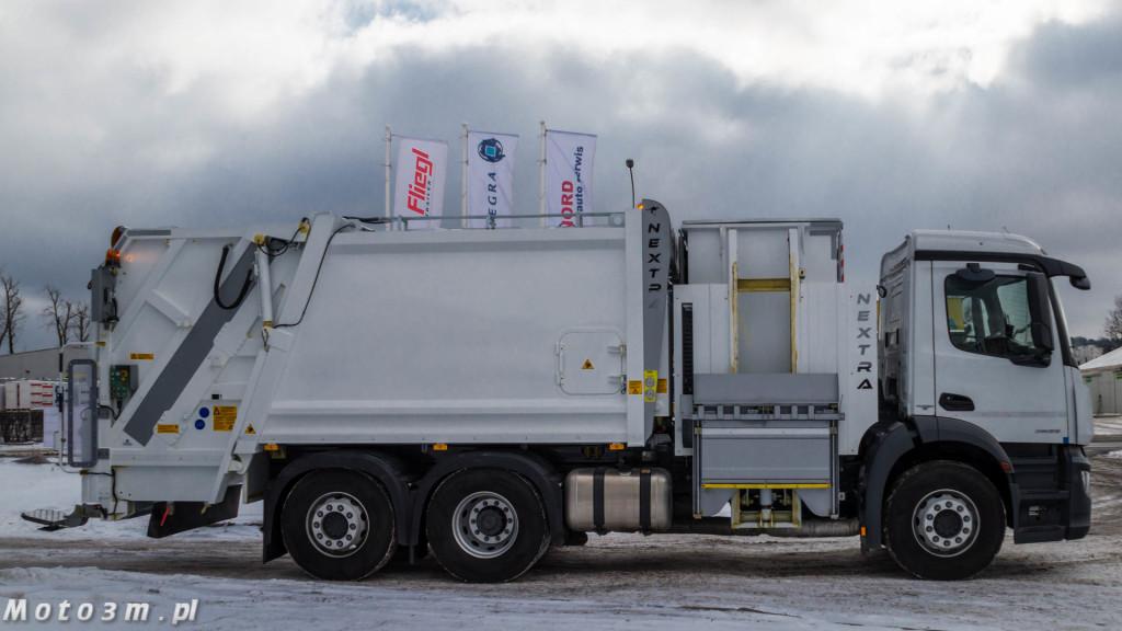 Śmieciarki Mercedes-Benz Antos z MW Wróbel z zabudową Integra Gdynia-04687