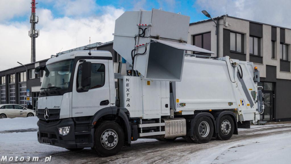 Śmieciarki Mercedes-Benz Antos z MW Wróbel z zabudową Integra Gdynia-04708