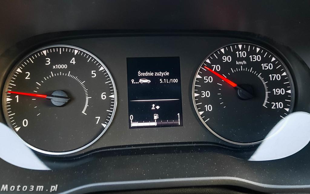 Dacia Duster - zegary i zużycie paliwa-