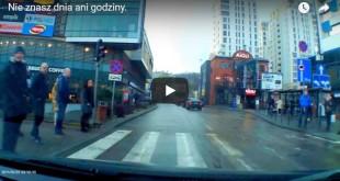 Wtargnięcie pieszego przed samochód