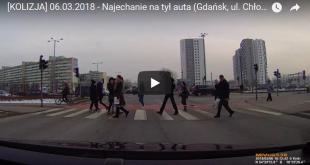 [KOLIZJA] 06.03.2018 - Najechanie na tył auta (Gdańsk, ul. Chłopska)