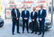 Od lewej: Grzegorz Handzlik, dyrektor marki Opel w Polsce, Bartosz Bartoszewicz, wiceprezydent Miasta Gdynia ds. jakości życia, Józef Haller, wiceprezes Serwis Haller, Adam Kurek, prezes spółki MiiMove