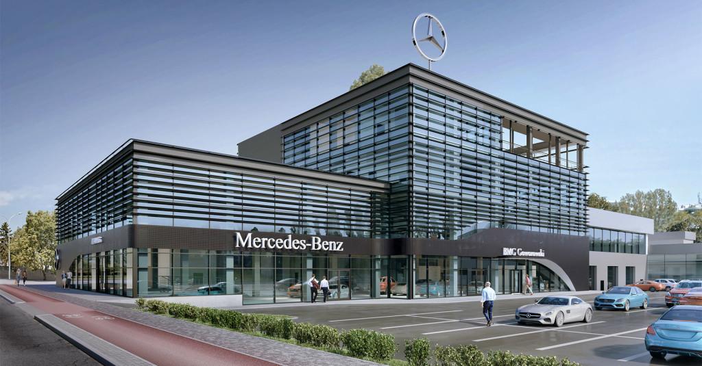 Tak wyglądać będzie nowy salon Mercedes-Benz BMG Goworowski, którego otwarcie planowane jest na wrzesień 2019 roku.
