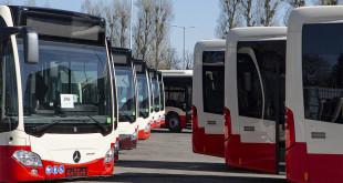 Prezentacja nowych autobusów Mercedes Citaro, które spółka Gdańskie Autobusy i Tramwaje kupiła w zeszłym roku od EvoBus Polska. Zajezdnia autobusowa GAiT przy al. Hallera  fot. Jerzy Pinkas/www.gdansk.pl