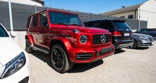 Mercedes-AMG G63 w kolorze Czerwień hiacyntu Designo w MB Witman-09894