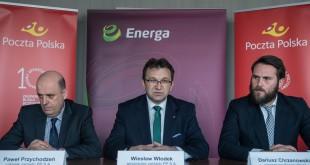 Przedstawiciele Energi i Poczty Polskiej podpisali list intencyjny w sprawie elektromobilności. Fot. ENERGA