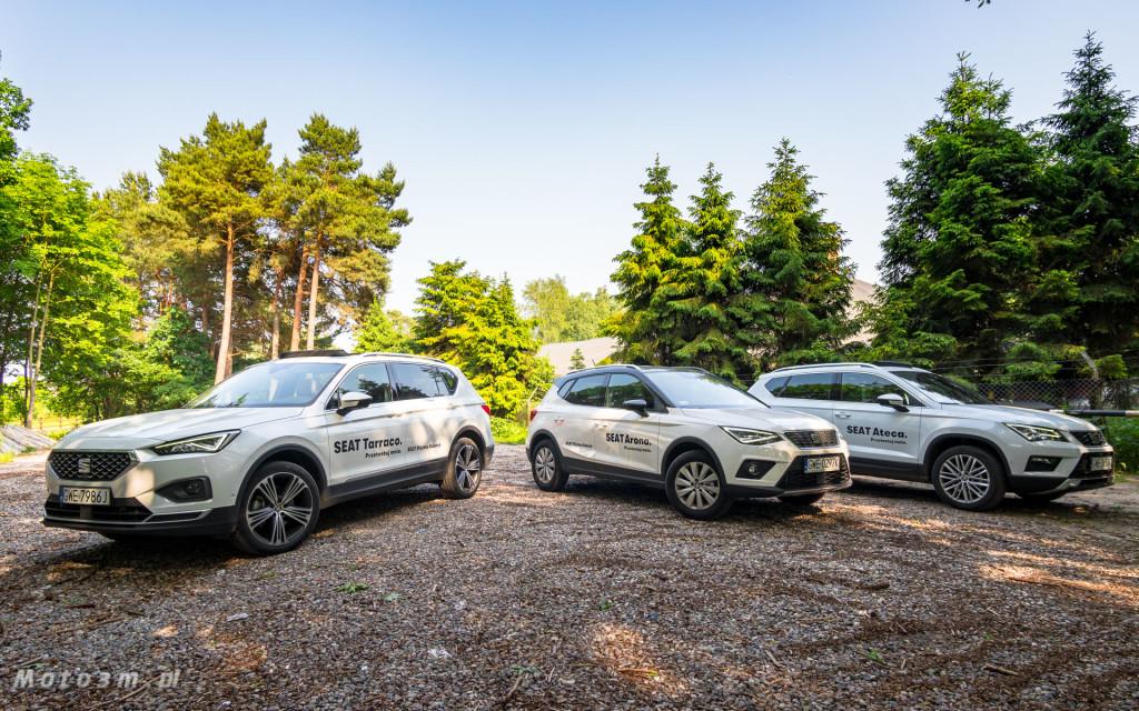 Rodzina SUV'ów SEAT'a. Od lewej: Tarraco, Arona, Ateca.