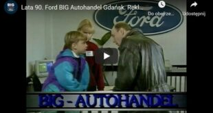 Reklama salonu Ford BIG Autohandel Gdańsk z lat 90-tych